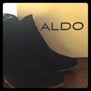 Aldo Velirien Black Suede Ankle Boot